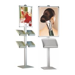 Dynamic-Poster-Stand-with-Brochure-Holder-Tmb